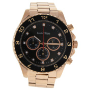 Louis Villiers Lvag5877-12 Rose Gold Stainless Steel Bracelet Watch Watch For Men 1 Pc