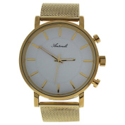 Antoneli Ag6182-07 Gold Stainless Steel Mesh Bracelet Watch Watch For Unisex 1 Pc