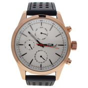 Antoneli Ag0308-04 Rose Gold/black Leather Strap Watch Watch For Men 1 Pc