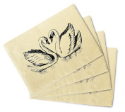 Couple Of Swans - Symbol Of Love Printed Canvas Placemats Set of 4