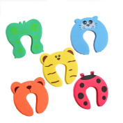 Himoya 5 PCS Security Animal Foam Door Stopper Cushion for Baby Children Safety Decorative Finger Protection Pinch Finger Guard