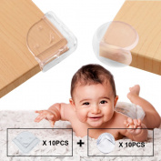 Baby Proofing Corner Protectors, Baby Safety Edge Corner Guards, Child Safety Clear Corner Guards, Tables, Furniture & Sharp Corners by Bagvhandbagro [10Ball Shape+10L Shape]