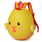 HTH 3D Cartoon Children's Backpack with a hard shell ,Design of Chickens