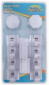 Safety Magnetic Cabinet Locks – Easy Installation - No Tools Needed – Baby Proof – 8 Locks + 2 Keys – Also For Drawers, Cupboard, and Doors
