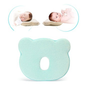 Winnerbe Memory Foam Baby Pillow Kids Toddler Pillow For Newborn Comfortable and Breathable Head Positioner Neck Support Prevent Baby Flat Head