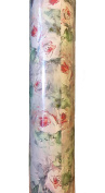 Roobee by Mara-mi Continuous Premium Gift Wrap Roll, Sketched Roses