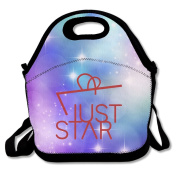 Black JUST STAR Lunch Bags For Man And Woman