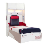 Cilek Kids Room First Class Collection, Storage Bed with Armoire & Mattress