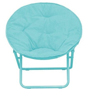 American Kids Bedding WK656330 Solid Faux-Fur Saucer Chair, Polyester Fabric Content, Teal Colour