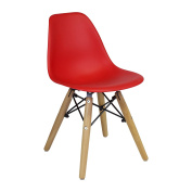Design Tree Home Eames Style Mid Century Modern Children's Chair, Red