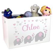 Child's Personalised Elephant Toy Box