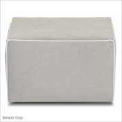 Klaussner Foote Mini Gliding Ottoman in Belsire Grey