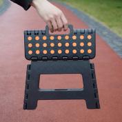 Livebest 23cm Super Sturdy Folding Step Stool Safe Enough for Bathroom, Black