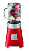 Oster Blend N Go Mason Jar Blender, with (2) 590ml BPA-free Plastic Jars, Red