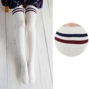 FEITONG 2017 New Women Girls Wind Thigh High Socks Stockings