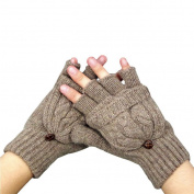 Clearance!Women Gloves,Haoricu Fashion Autumn WinterWomen Warmer Fingerless Gloves Winter