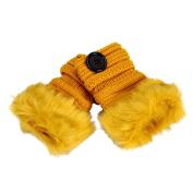 Hot Sale!Women Gloves,Haoricu Women Warm Winter Faux Rabbit Wrist Fingerless Knitting Gloves Mittens