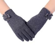 Clearance!Women Gloves,Haoricu Fashion Autumn Winter Bow-knot Ladies Outdoor Sport Warm Gloves