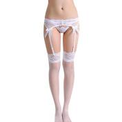 Stockings,Morecome Women Lace Thigh-Highs Stockings Garter Belt Suspender Set