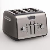 KitchenAid KMT422QG 4-Slice Toaster with Manual High-Lift Lever and Digital Display - Liquid Graphite