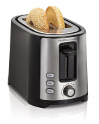 Hamilton Beach Beach Extra-Wide 2 Slice Slot Toaster, Black