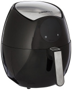 GoWISE USA GW22621 4th Generation Electric Air Fryer, Black, 3.5l, 1400W + Recipe Book