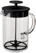Bodum Milk Frother, Latteo Milk Frother with Glass Handle, Clear, 240ml
