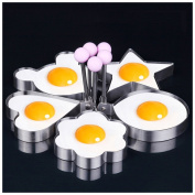 Luoke Chef Stainless Steel Egg Ring Fried Egg Apparatus/Fried Egg Circle - Pancake Breakfast Sandwiches - Benedict Eggs - Omelettes and More Nonstick Mould Round