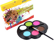 6 Colour Face Paint,Outgeek Safe Non-Toxic Face Crayons with 1 Painting Brush(Random Colour)