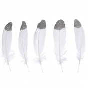 WAKEACE 20pcs Goose Feather Simulation Gold 6-8 Inches / 15-20 Cm In Bulk for Craft Party Decoration Goose Feathers 20pcs/pack/