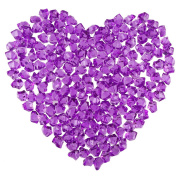 DECORA 200 Pieces Acrylic Gems Ice Crystal Rocks for Table Scatters, Vase Fillers, Arts & Crafts, Wedding, Birthday Decoration- Purple