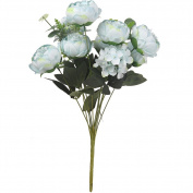 Artificial Peony Flowers Colourful Spring Flowers Soft Silk Bouquet for Home / Office / Wedding / Party Decor