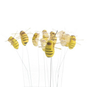 12 Artificial Mushroom Bumble Bees