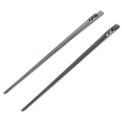 Dophee 2Pcs Sewing Leather Needle Manual Lacing Threading Two Prong Steel Needle LeatherCraft Tool Handmade Leather Tools DIY Skin Tool