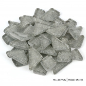 Milltown Merchants™ Grey Glitter Mosaic Tile Pieces - Bulk Silver Sparkle Mosaic Tiles - 1.4kg (1420ml) Shimmer Tile Assortment For Backsplash, Murals, Stepping Stones, and Mosaics