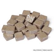 Milltown Merchants™ 3/5 Inch (15mm) Tan Ceramic Mosaic Tile - Bulk Beige Mandala Mosaic Tiles - 1.4kg (1420ml) Zen Tile Assortment For Backsplash, Murals, and Mosaics