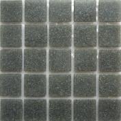 B 39 Basalt - 1.9cm Grey Glass Tile - 0.2kg bag - Hakatai Glass Tile