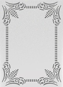 Ultimate Crafts The Ritz Embossing Folder 13cm x 18cm -Classy Frame