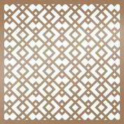 Ultimate Crafts The Ritz Stencil 15cm x 15cm -Geometric