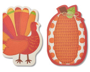 American Greetings Turkey Thanksgiving Card, 6-Count, Assorted