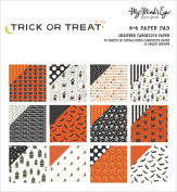 My Mind's Eye Double-Sided Paper Pad 15cm x 15cm 24/Pkg-Trick Or Treat, 12 Designs
