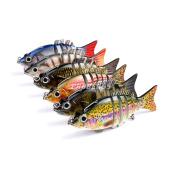 6pcs/Lot 6 Sections Jointed Baits Swimbaits Fishing Lures Swimbait Bait Fishing Tackle Hooks 10.2cm/20.5g