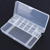 Honbay Clear Visible Plastic Fishing Tackle Accessory Box Fishing Lure Bait Hooks Storage Box Case Container Jewellery Making Findings Organiser Box Storage Container Case - 2 Layer 11 Compartments