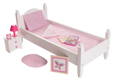 46cm Doll Furniture Bed Set w/ Accessories - Playtime by Eimmie Collection