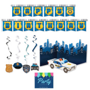 Police Party Supplies - Decoration Kit by Party Tableware Today
