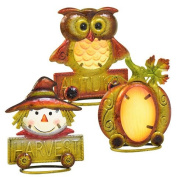 Autumn Harvest Icon Table Decorations, Set of 3