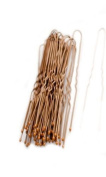 Pack of 36 Brown Short Waved Hairpins. 4.5cm