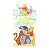 Jerry Fabrics 226094 Winnie-The-Pooh Children's Bedding Comforter Set including Duvet Cover and Pillow Case, Multi-Colour