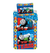 Jerry Fabrics JF0244 Thomas and Friends Children's Bedding Comforter Set including Duvet Cover and Pillow Case, Multi-Colour