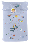 Blonde Home Game Nordic Space, Cotton, Blue, Single, 38 x 28 x 3 cm, Pack of 2